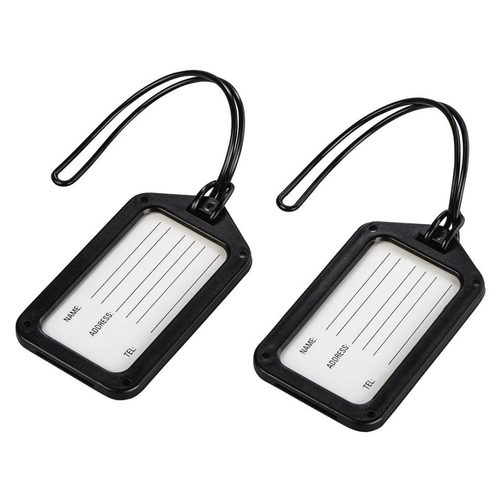 Hama identifikační štítek na zavazadlo, černý, set 2 ks (cena uvedená za set)