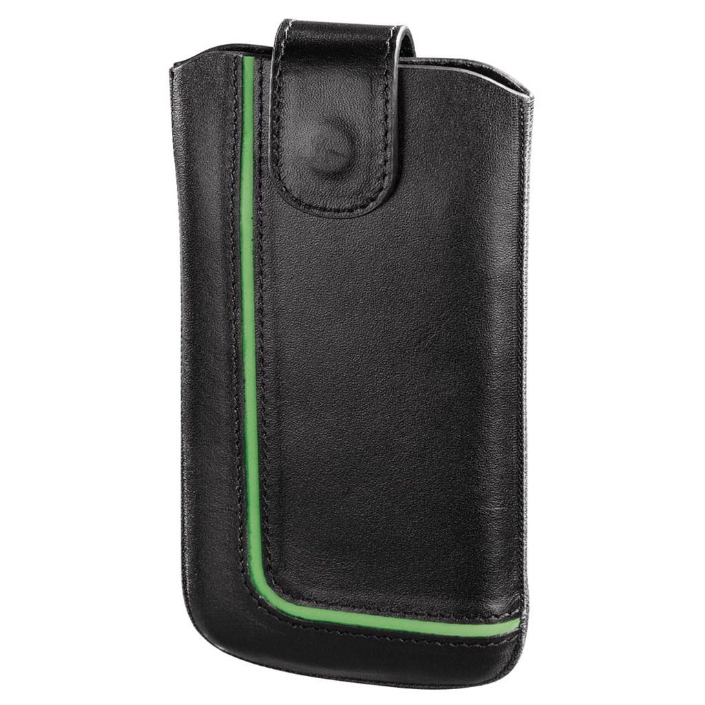 Hama pouzdro na mobilní telefon Neon Black, XL, černé/zelené