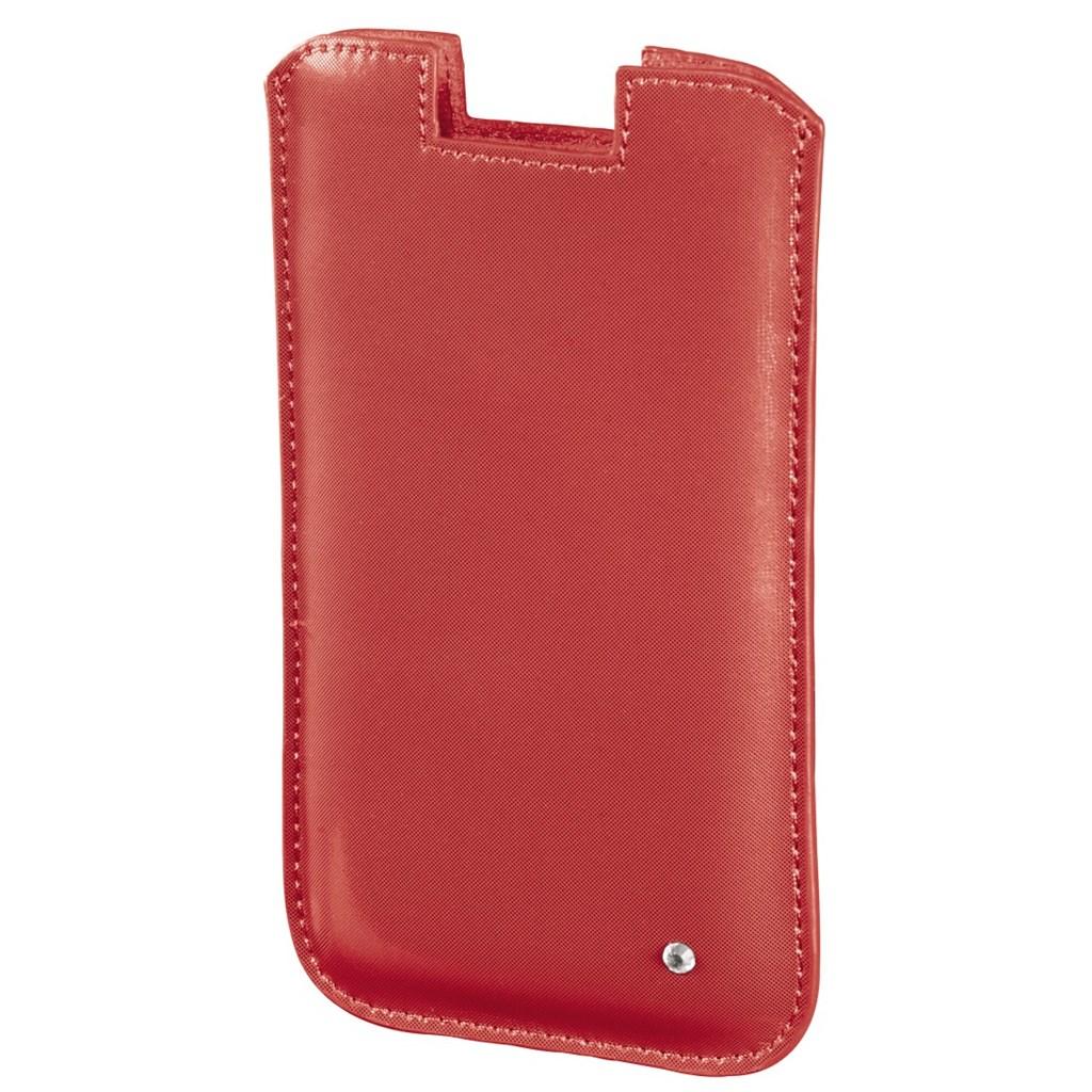 Hama pouzdro na mobil Shiny Metallic, velikost L, oranžové