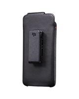 BlackBerry pouzdro kožené pro BlackBerry DTEK60, klip s otočným čepem, černá