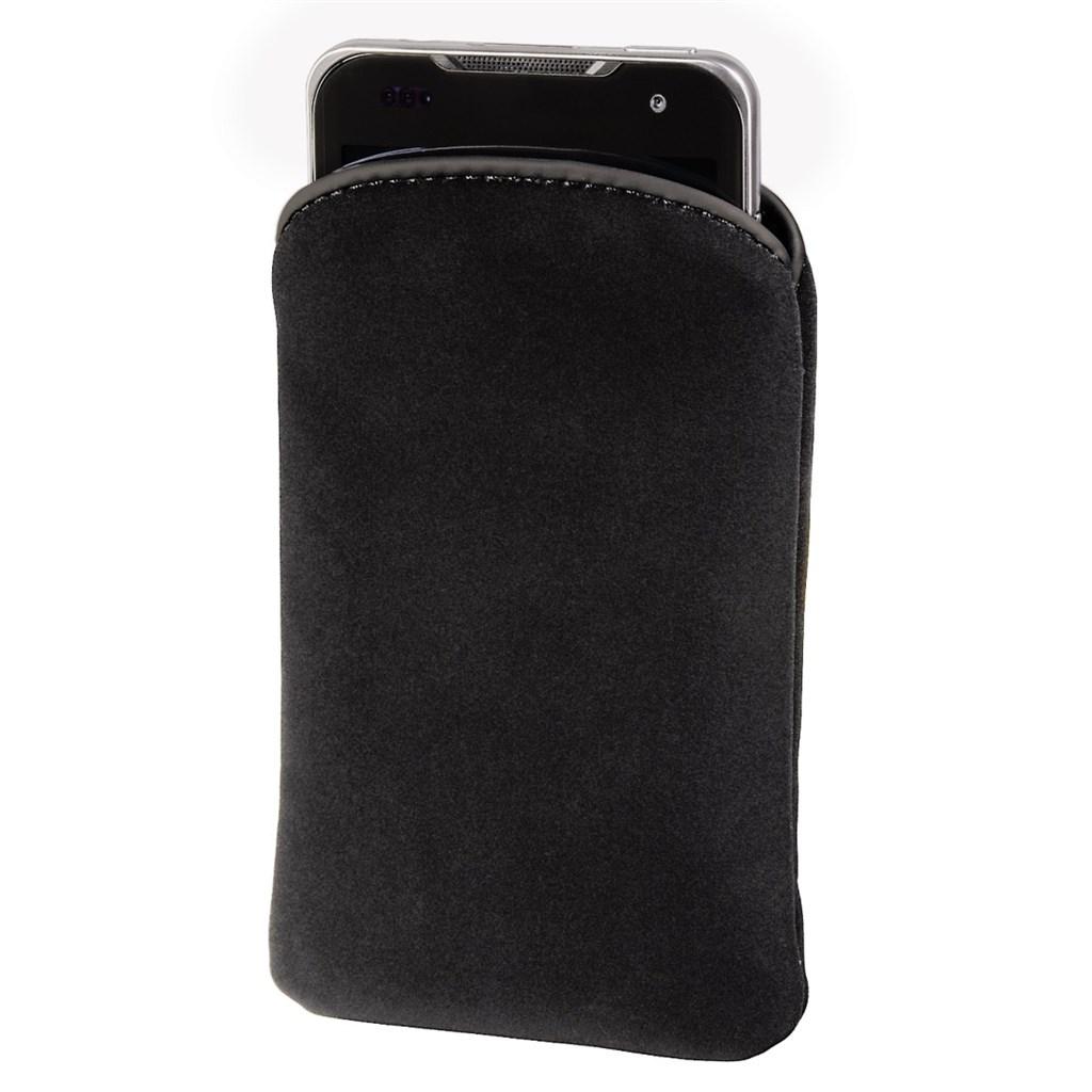 Hama pouzdro na mobil Velvet Pouch, velikost XXL, černé