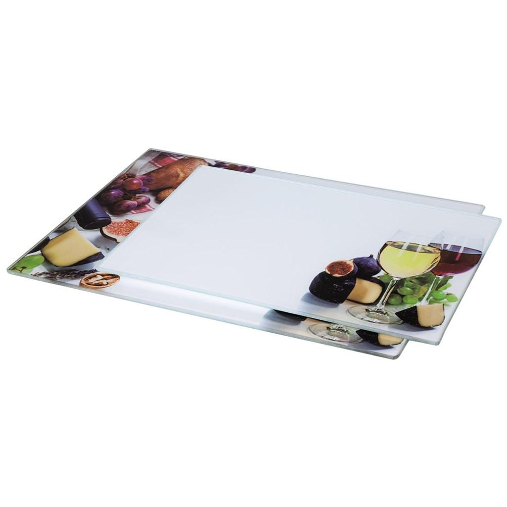 Xavax skleněná deska na krájení Wine, 20x30 cm, 25x35 cm, set 2 ks