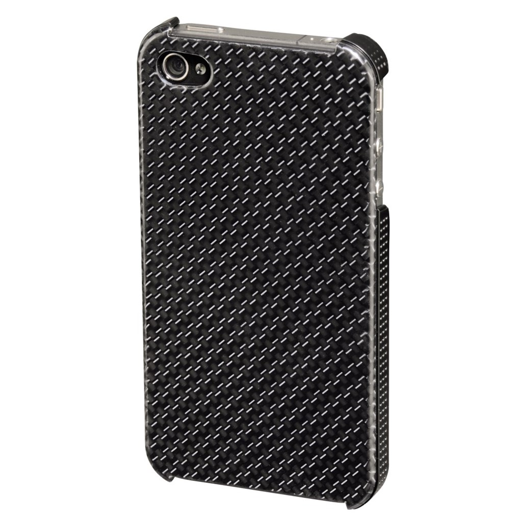 Hama kryt Carbon pro Apple iPhone 4/4S, šedý
