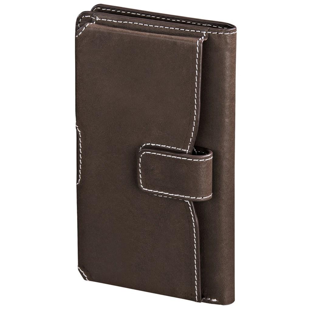 Hama kožené pouzdro na mobil Case, velkost L, hnědé