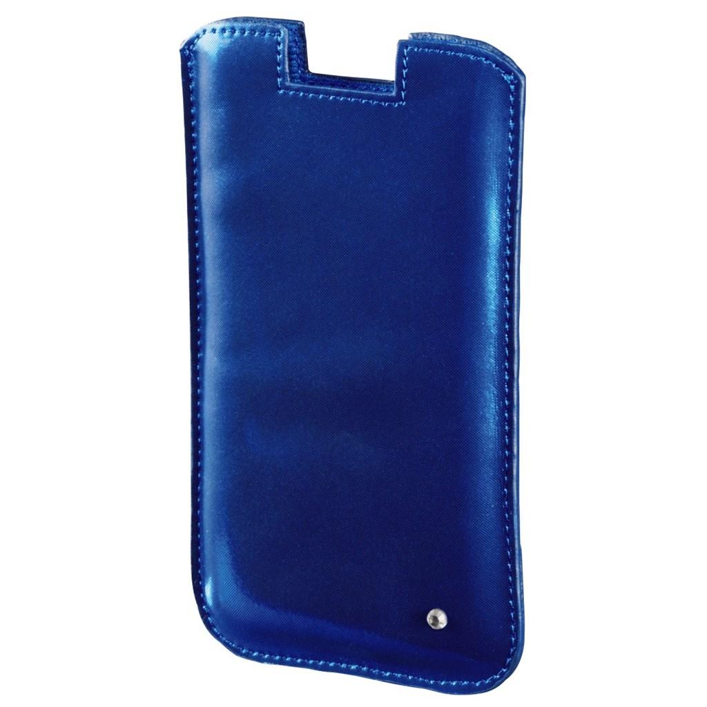 Hama pouzdro na mobil Shiny Metallic, velikost L, modré