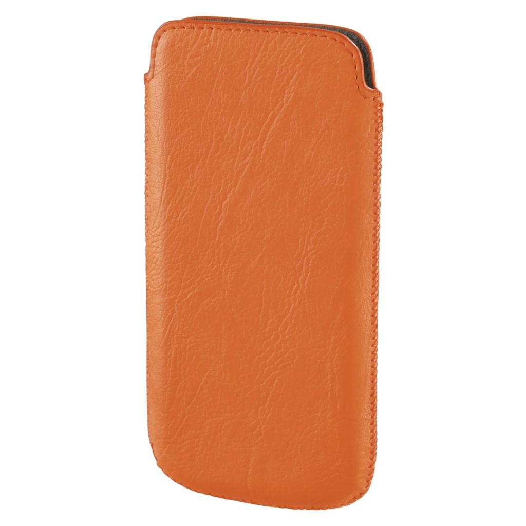 Hama pouzdro na mobil Neon light, velikost L, neónově oranžové