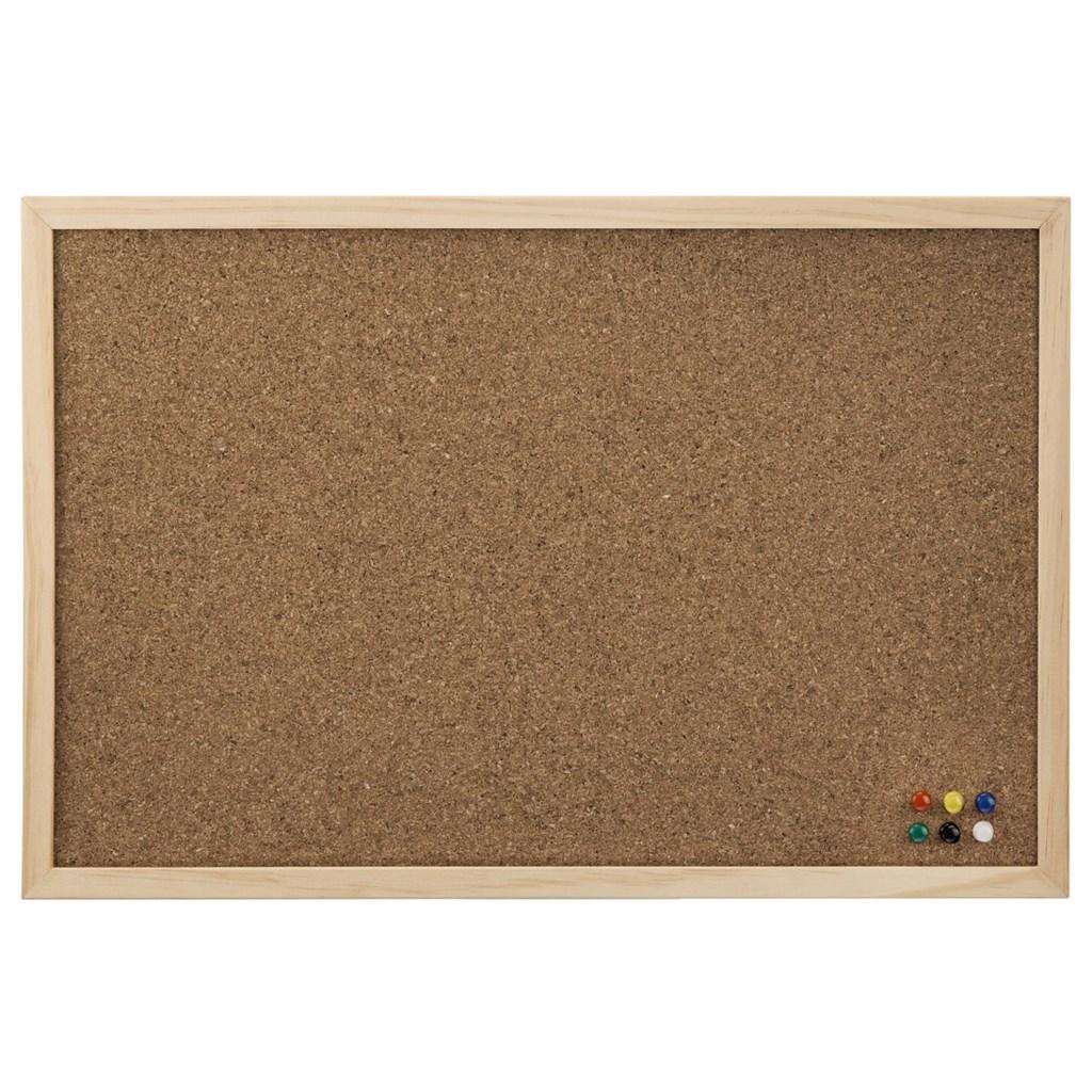 Hama korková nástěnka, 40x60 cm, dřevěná, přírodní