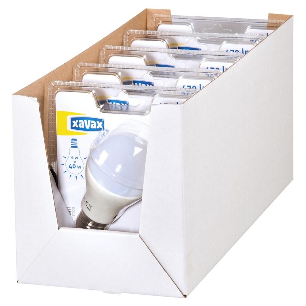 Xavax LED žárovka, 6 W (=40 W), klasický tvar, E27, teplá bílá, 1 ks v blistru