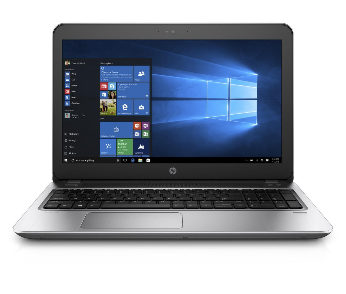 HP ProBook 455 G4 A10-9600P / 4GB / 500GB / 15,6'' FHD / backlit keyb / Win 10 pro