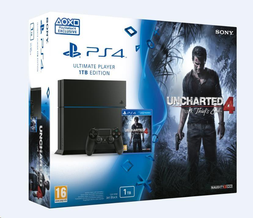Sony PlayStation 4 1TB + Uncharted 4: A Thief's End