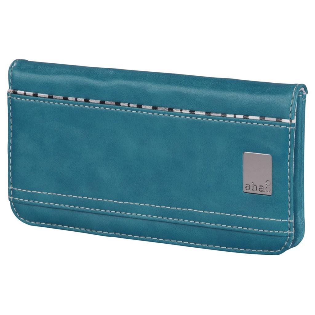 aha: pouzdro-peněženka na mobil, velikost L, tyrkysové