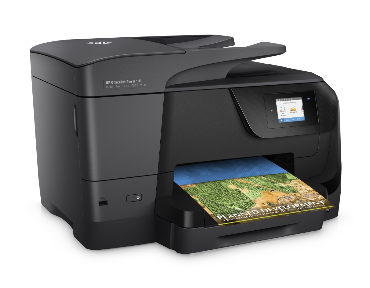 HP All-in-One Officejet Pro 8710 (A4, 22/18 ppm, USB 2.0, Ethernet, Wi-Fi, Print/Scan/Copy/Fax)