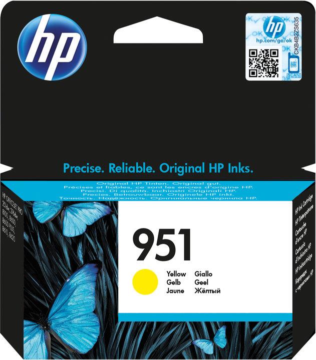 HP CN052AE Ink Cart No.951 pro OJ Pro 8610,8620, 700str., Yellow