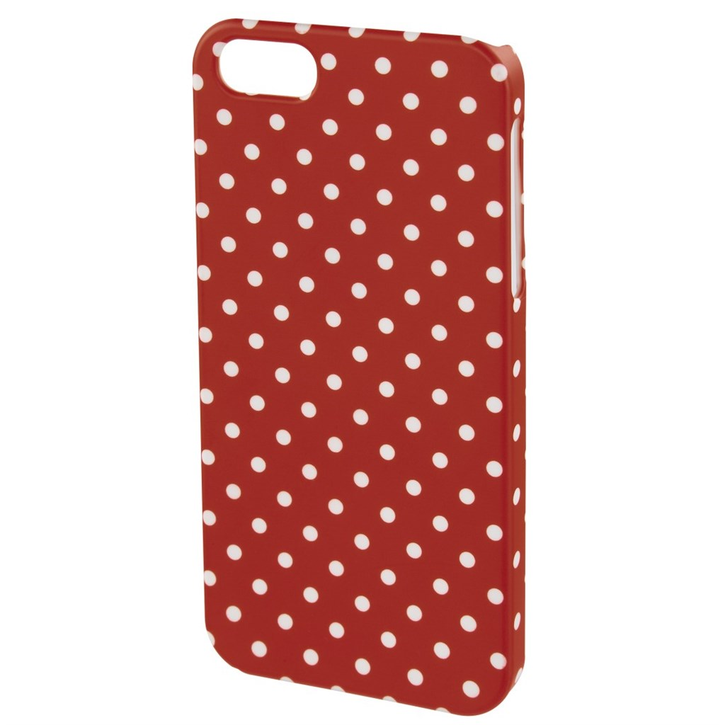 Hama polka Dots Cover for Apple iPhone 6, red/white