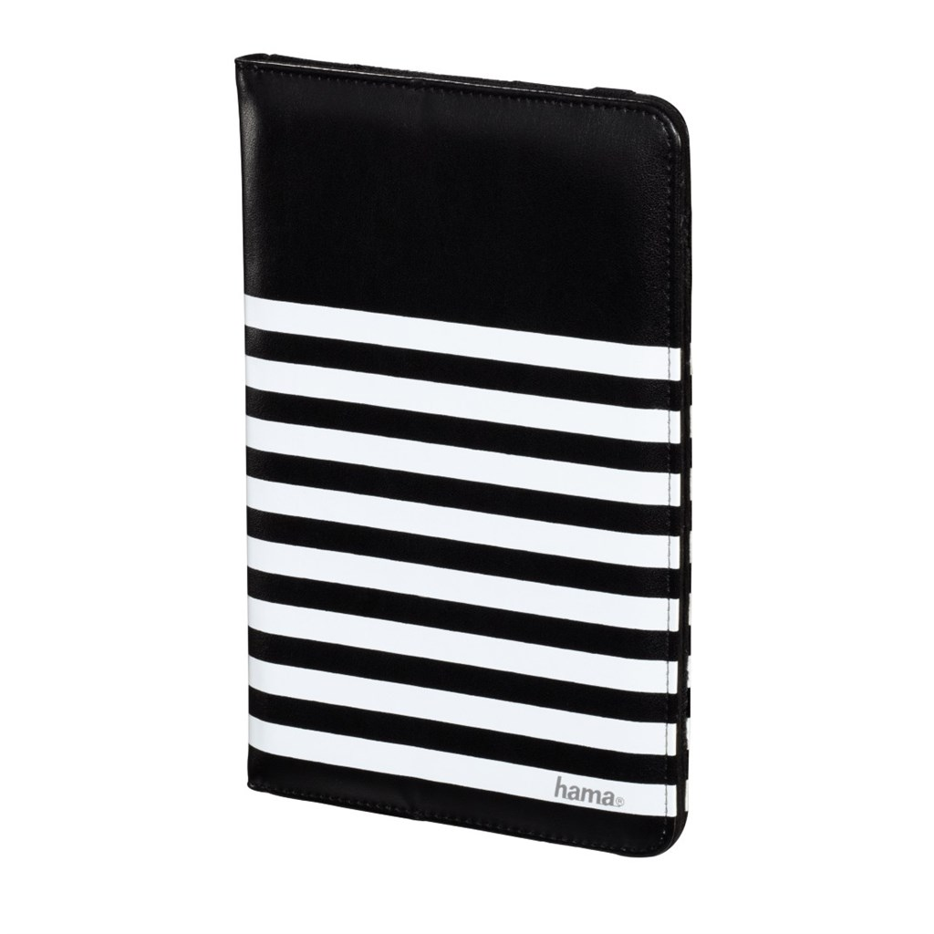 "Hama Stripes pouzdro na tablet do 20,3 cm (8""), černé s bílými proužky"