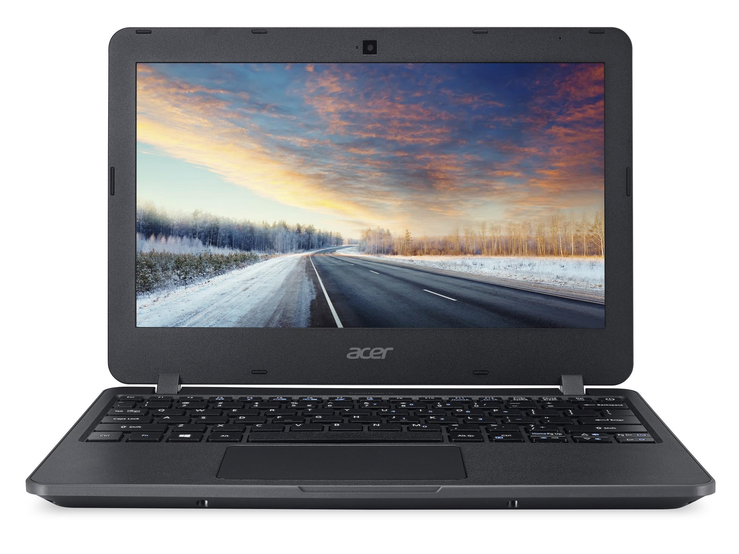 """Acer TravelMate B117-M-C4GF Celeron N3160/4GB+N/500GB+N/A/HD Graphics/11.6"""" HD matný/BT/W10 Home/Black"""