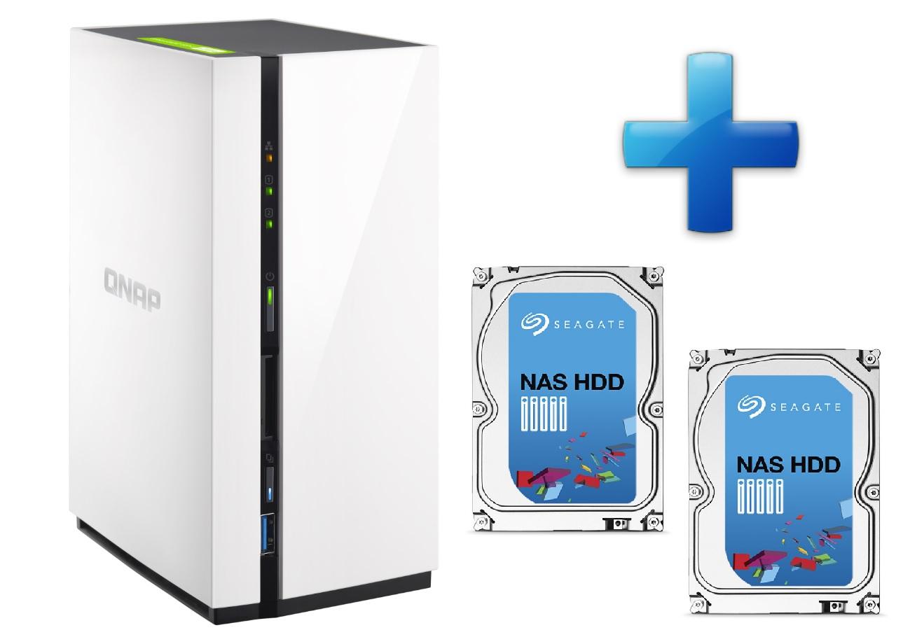 QNAP TS-228 + 2x 4TB HDD (ST4000VN000)