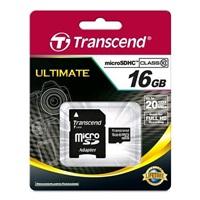 Transcend 16GB microSDHC UHS-I (Class 10) paměťová karta (s adaptérem)