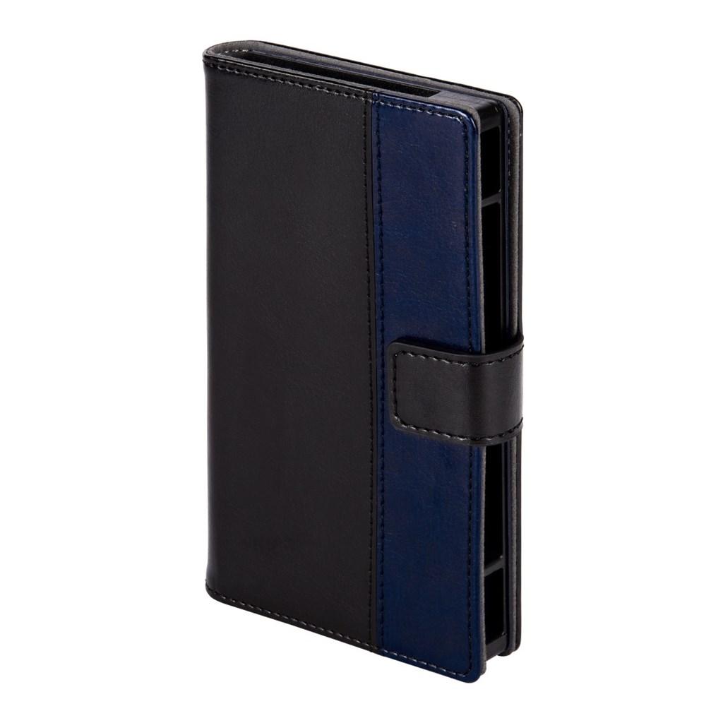 """Hama pouzdro na mobil Move, velikost 1 (pro displeje od 4"""" do 4,5""""), černé/modré"""