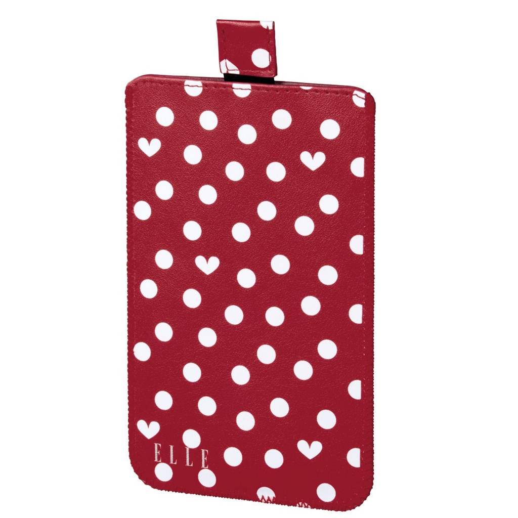 ELLE Hearts and Dots obal na mobil, velikost XL