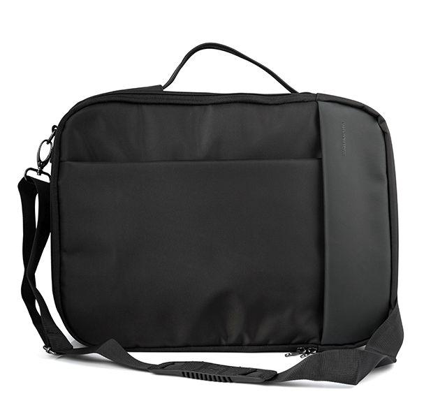 """Modecom brašna TRENTON na notebooky do velikosti 15,6"""", kovové přezky, 14 kapes, funkce batohu, černá"""