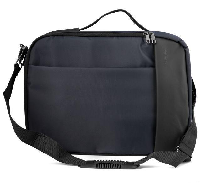 """Modecom brašna TRENTON na notebooky do velikosti 15,6"""", kovové přezky, 14 kapes, funkce batohu, tmavě modrá"""