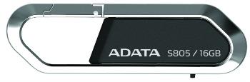 ADATA Sporty Series S805 16GB USB 2.0 flashdisk, kovový karabinový rám, šedý