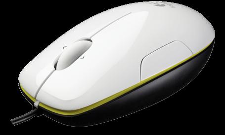 myš Logitech M150 Laser mouse, Coconut - White