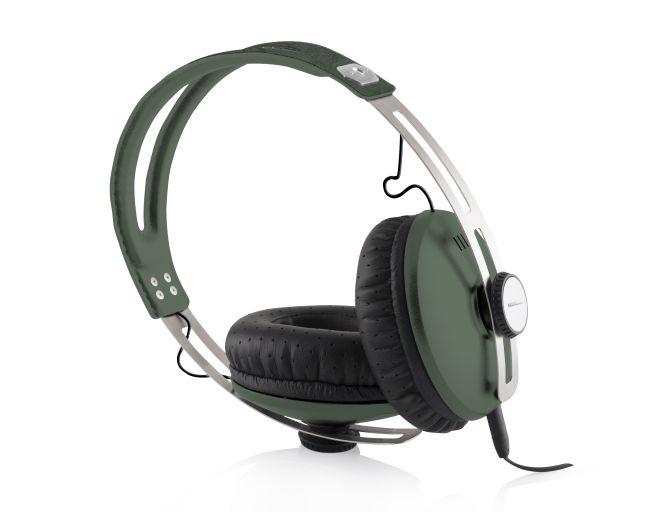 Modecom sluchátka MC-450 ONE GREEN mikrofon a ovládání hlasitosti na kabelu