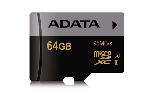ADATA Premier Pro micro SDXC karta 64GB UHS-I U3 Class 10 (95/45M/s)