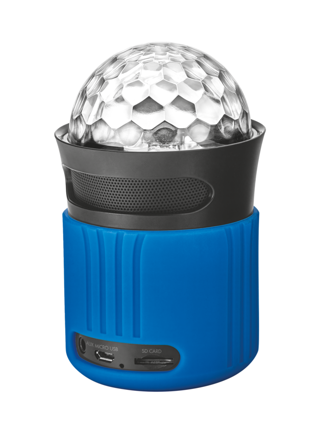 TRUST Dixxo Go Wireless Bluetooth Speaker with party lights - blue