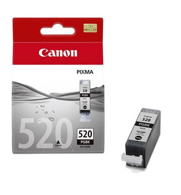 Inkoust Canon PGI520 black blister se zabezpečením | IP3600/IP4600