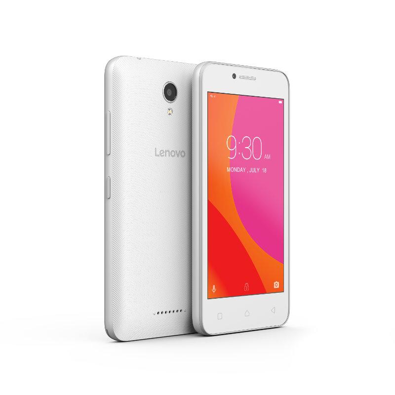 "Lenovo Smartphone B Dual SIM/4,5"" TN/854x480/Quad-Core/1,0GHz/1GB/8GB/5Mpx/LTE/Android 6.0/White"