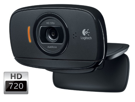 Logitech B525 HD Webcam, 720p video, stereo mikrofon