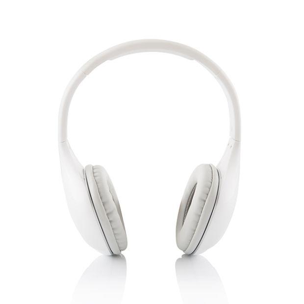 Modecom MC-900B PURE Bluetooth headset, bezdrátová sluchátka s mikrofonem, bílá