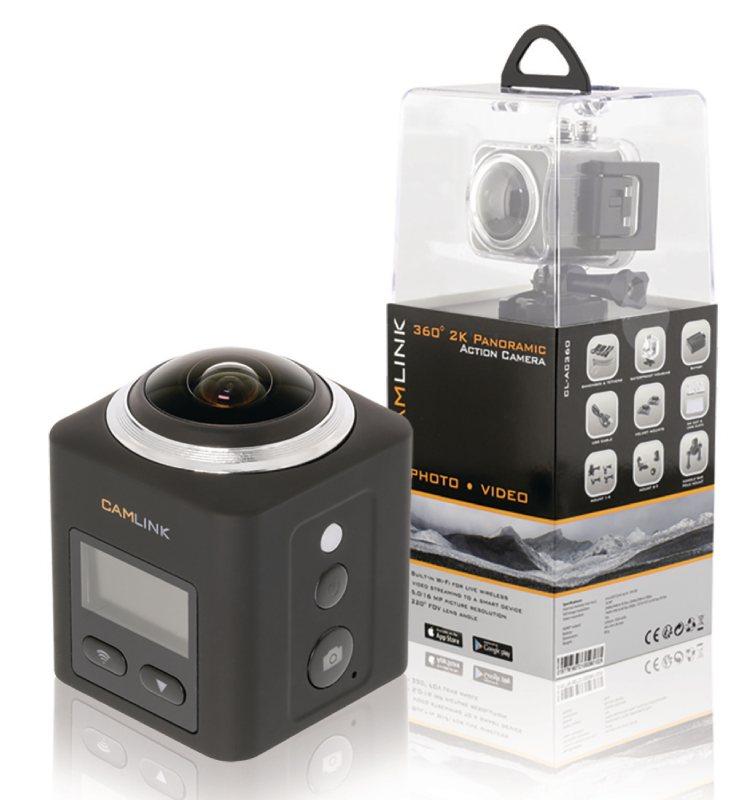 Camlink 360° 2K Panoramatická Akční Kamera Wi-Fi - CL-AC360*