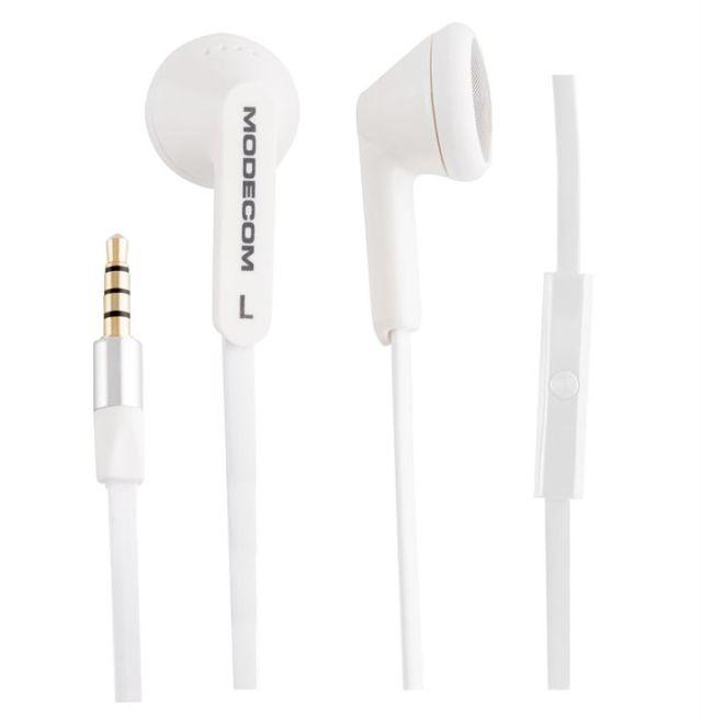 Modecom sluchátka do uší MC-131, s háčkem na ucho, mikrofon na kabelu