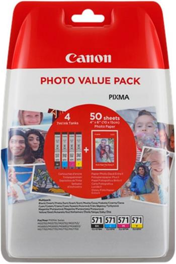 Canon cartridge XL CLI-571 C/M/Y/BK PHOTO VALUE pack