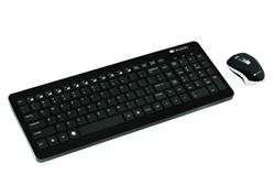 CANYON bezdrátový set klávesnice + myš, 105 kláves, CZ layout, černá, myš s nastavitelným DPI 800-1600