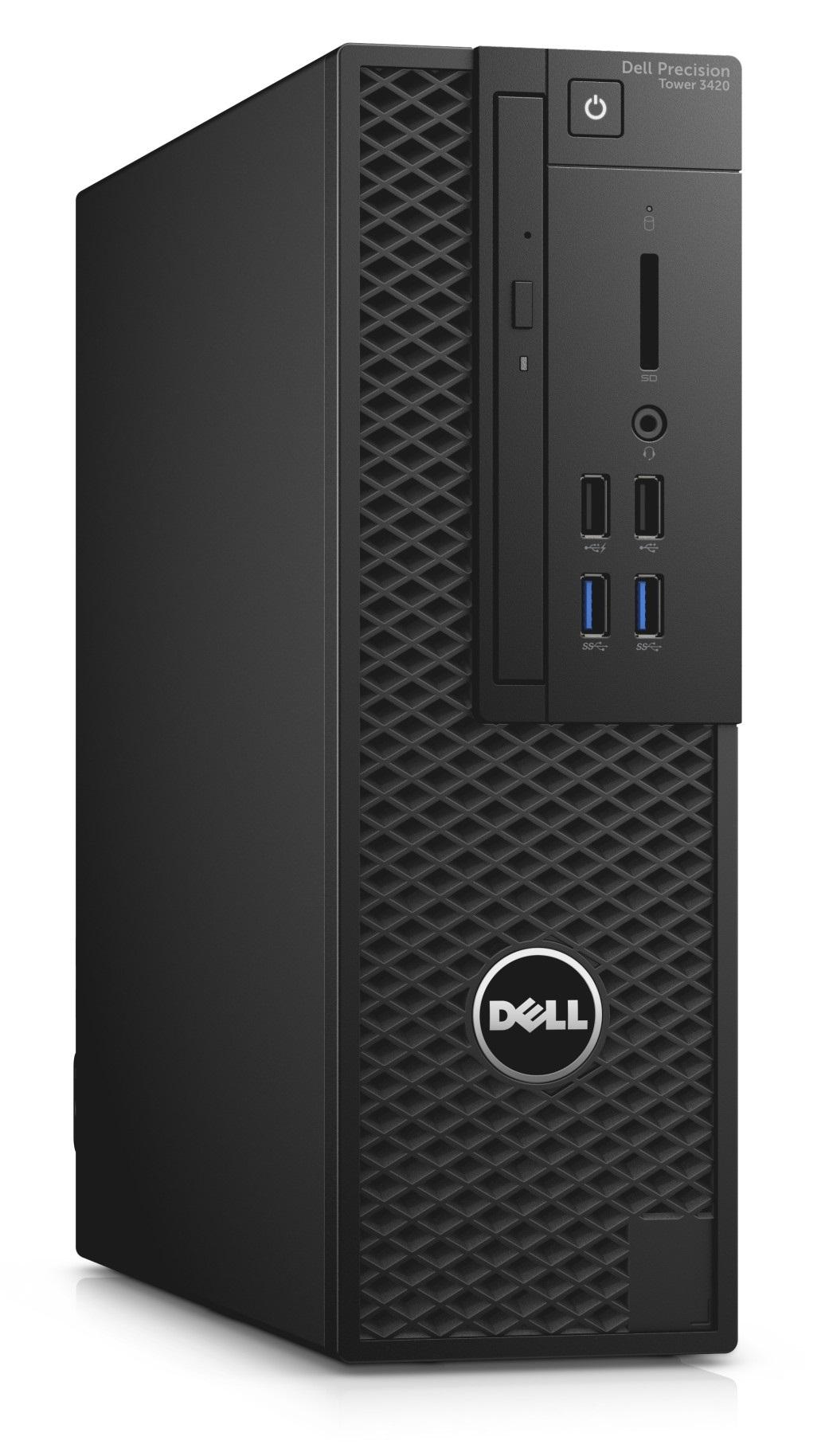 DELL Precision T3420 E3-1240 v5/16GB/256GB/1TB/4GB Quadro K1200/DVDRW/klávesnice+myš/Win 7/10 Pro