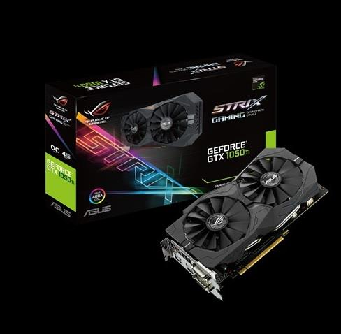 ASUS GeForce GTX 1050 Ti, 4GB GDDR5 (128 Bit), HDMI, 2xDVI, DP