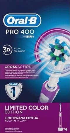 Toothbrush Oral-B Pro 400 Braun D16.513 CrossAction | purple