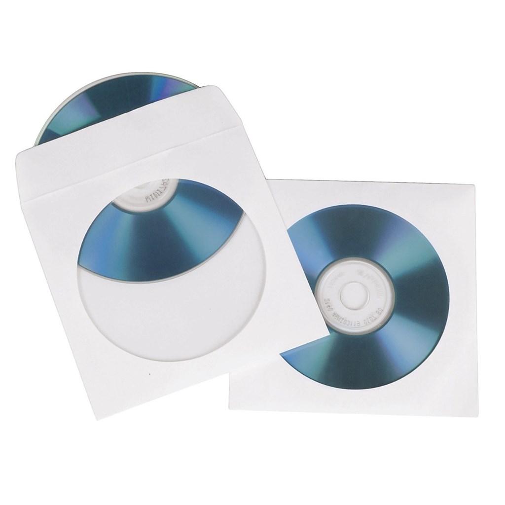 Hama ochranný obal pro CD/DVD, 25ks/bal, bílý, balení krabička na zavěšení
