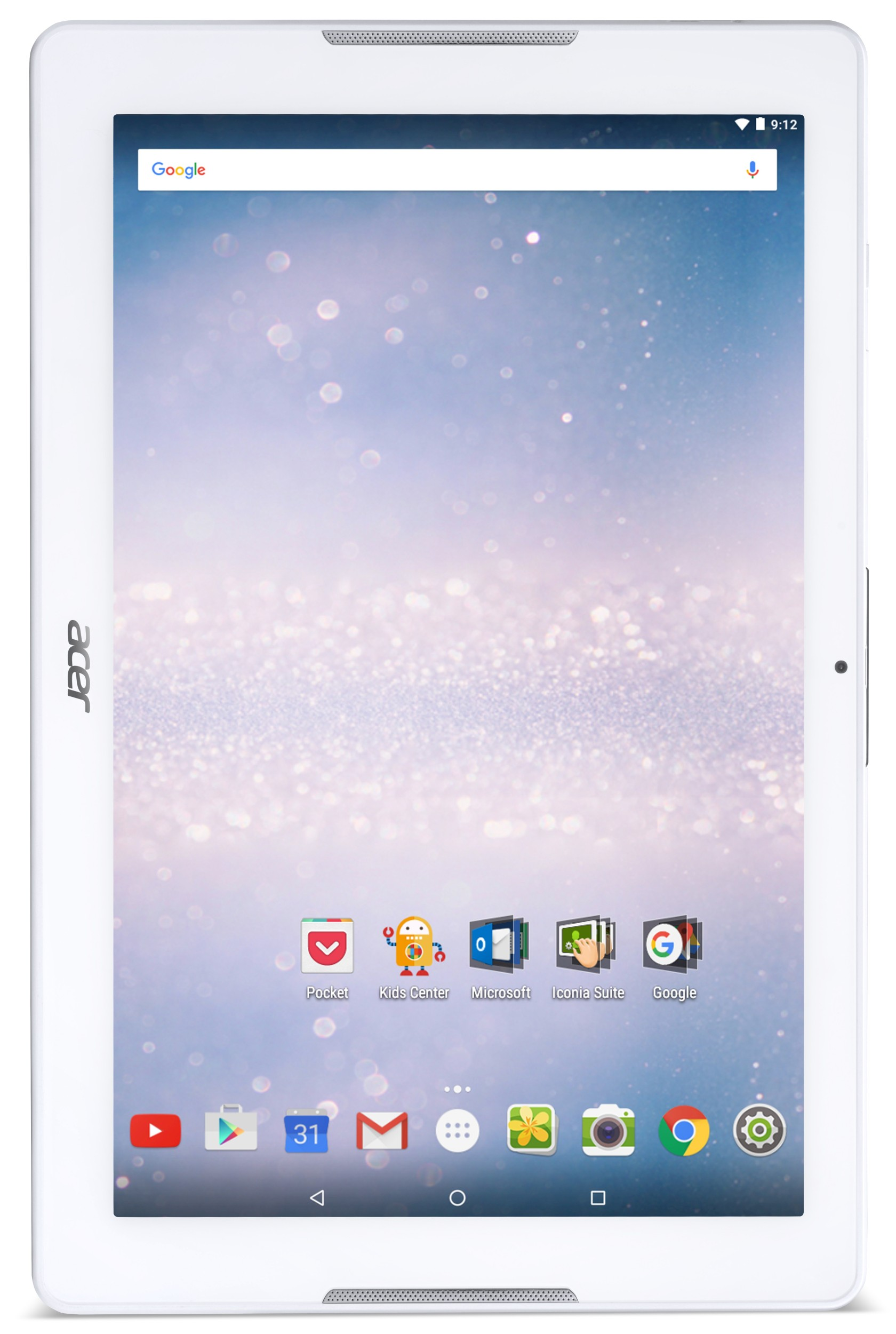 "Acer Iconia One 10 (B3-A30-K72N) MTK MT8163/10.1"" IPS Touch/1280x800 HD/1GB/eMMC 16GB/BT/Android 6.0 Marshmallow/White"