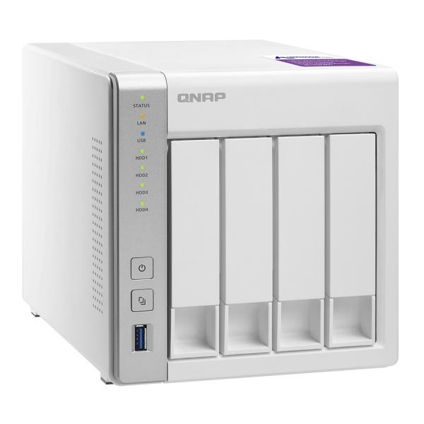 QNAP TS-431P Turbo NAS Server, 1,7 GHz DC/1GB DDR3/4x HDD/2xGL/USB 3.0/R0,1,5,6/iSCSI