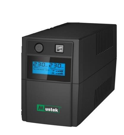 Mustek PowerMust 636 LCD (650VA), Line Int., IEC