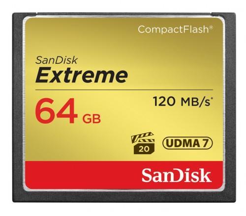 SanDisk Compact Flash Extreme karta 64GB UDMA7 (rychlost až 120MB/s)