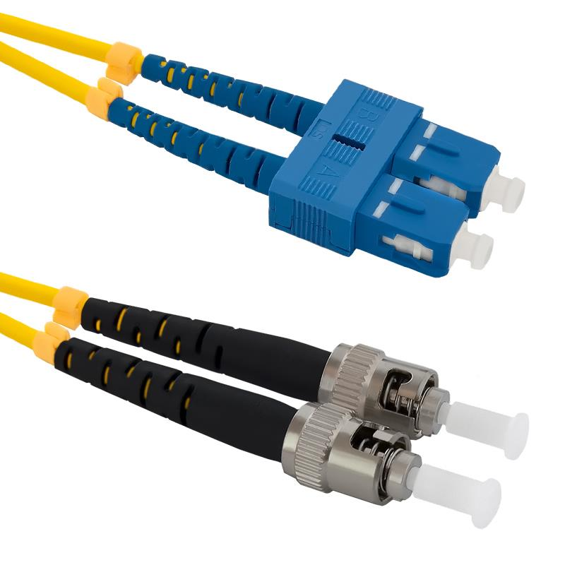 Qoltec Optic Patchcord SC/UPC - ST/UPC SM 9/125 G652D 2m