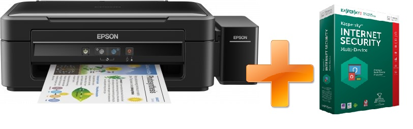 EPSON L382, A4, 5760x1440 dpi, 33/15 ppm + Kaspersky Internet Security multi-device 2016 zdarma