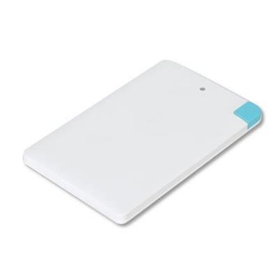 POWERBANK 2000mAh Alu Li-pol Credit card, micro USB, Lightning, bílá